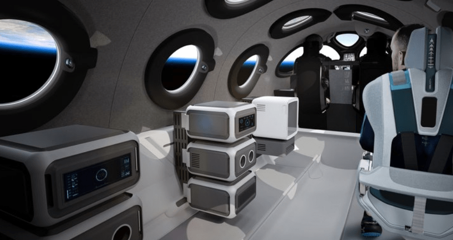 The interior of the SpaceshipTwo. Source: Virgin Galactic