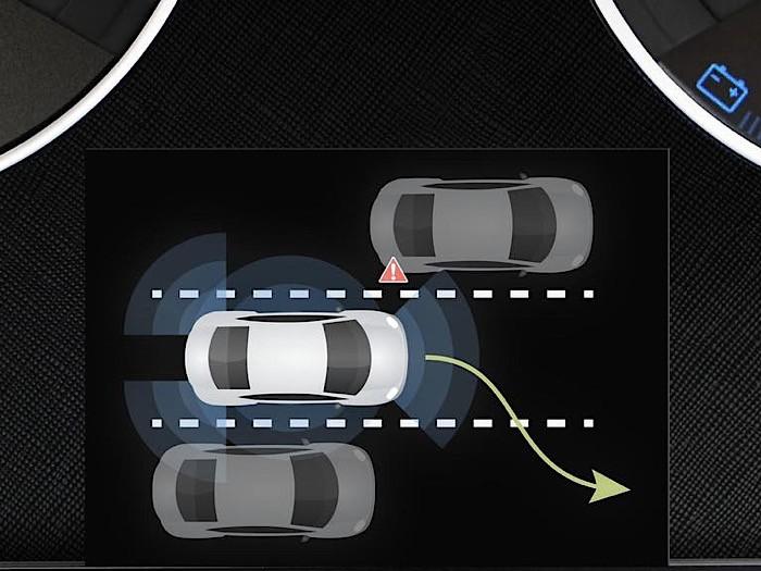 Illustration of Tesla's autopilot software. Source: Tesla