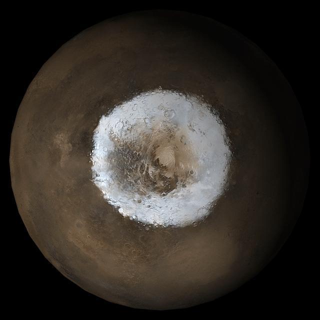Ice on Mars - Image credit: NASA