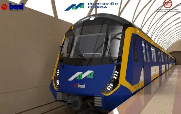 Mumbai Metro Train - Source: Metro Rail News (India)